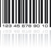Etiqueta del código de barras con la reflexión Imagen de archivo