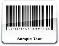 Etiqueta del código de barras con la sombra Imágenes de archivo libres de regalías