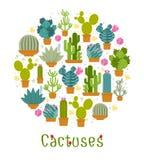 Etiqueta del cactus libre illustration