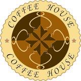 Etiqueta del café Foto de archivo libre de regalías