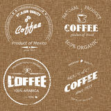 Etiqueta del café en el despido Fotos de archivo