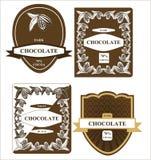 Etiqueta del chocolate Fotos de archivo libres de regalías