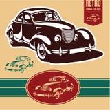 Etiqueta del coche del vintage Fotografía de archivo libre de regalías