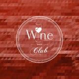 Etiqueta del concepto del club del vino Fotografía de archivo