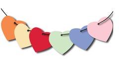 Etiqueta del corazón Fotografía de archivo