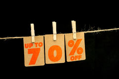 etiqueta del descuento del 70 por ciento Imagenes de archivo