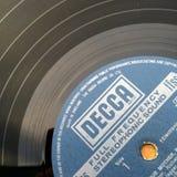 Etiqueta del disco de vinilo Fotos de archivo libres de regalías