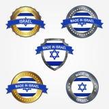 Etiqueta del diseño de hecho en Israel Ilustración del vector libre illustration