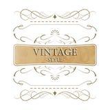 Etiqueta del estilo del vintage Foto de archivo libre de regalías