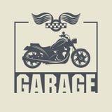 Etiqueta del garaje del vintage Imagenes de archivo