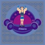 Etiqueta del gimnasio Imágenes de archivo libres de regalías