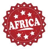 Etiqueta del grunge de África, etiqueta engomada Fotografía de archivo