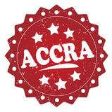 Etiqueta del grunge de Accra, etiqueta engomada Foto de archivo