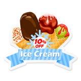 Etiqueta del helado Imagen de archivo