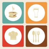 Etiqueta del menú ilustración del vector