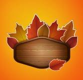 Etiqueta del otoño del vector stock de ilustración