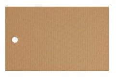 Etiqueta del papel en blanco Imagen de archivo