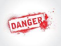 Etiqueta del peligro Fotos de archivo libres de regalías