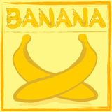 Etiqueta del plátano Imagen de archivo libre de regalías