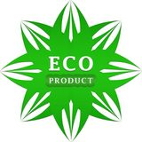 Etiqueta del producto de Eco Imagen de archivo