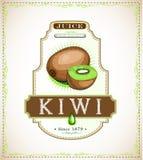 Etiqueta del producto del kiwi Imágenes de archivo libres de regalías