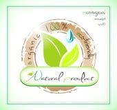 Etiqueta del producto natural Foto de archivo libre de regalías