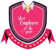 Etiqueta del promo del vector del mejor premio del servicio del empleado del año Fotografía de archivo libre de regalías