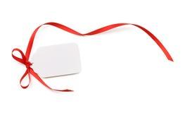 Etiqueta del regalo Fotos de archivo libres de regalías