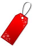 Etiqueta del regalo de la Navidad Fotografía de archivo libre de regalías