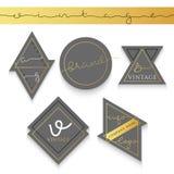 Etiqueta del sistema 5 para el negocio Marca registrada de la etiqueta Imagenes de archivo