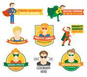 Etiqueta del super héroe libre illustration