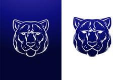 Etiqueta del tigre del vintage Gráfico retro del diseño del vector Imagen de archivo libre de regalías