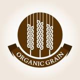 Etiqueta del trigo del estilo del vintage Plantilla del diseño del logotipo del vector Orgánico libre illustration