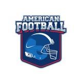 Etiqueta del vector del fútbol americano Imagenes de archivo