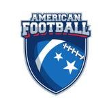 Etiqueta del vector del fútbol americano Foto de archivo libre de regalías