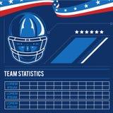 Etiqueta del vector del fútbol americano Imágenes de archivo libres de regalías