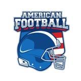 Etiqueta del vector del fútbol americano Foto de archivo