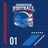 Etiqueta del vector del fútbol americano Fotografía de archivo libre de regalías