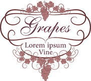 Etiqueta del vector para el vino en estilo del vintage Fotografía de archivo