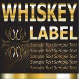 Etiqueta del vector para el whisky Imagenes de archivo
