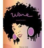 Etiqueta del vino Fotografía de archivo libre de regalías