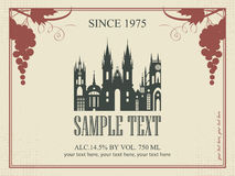 Etiqueta del vino Fotos de archivo