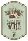 Etiqueta del vino Fotografía de archivo