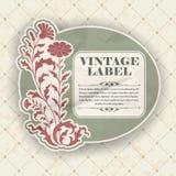 Etiqueta del vintage Foto de archivo