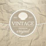 Etiqueta del vintage Fotografía de archivo libre de regalías