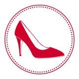 Etiqueta del zapato del vintage mujer Imagen de archivo libre de regalías
