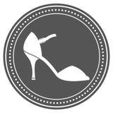 Etiqueta del zapato del vintage mujer Imagenes de archivo