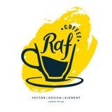 Etiqueta dibujada mano moderna de las letras para la Royal Air Force de la bebida del café Fotografía de archivo libre de regalías