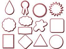 Etiqueta diferente das formas Ilustração do Vetor