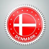 Etiqueta dinamarquesa da bandeira Foto de Stock Royalty Free